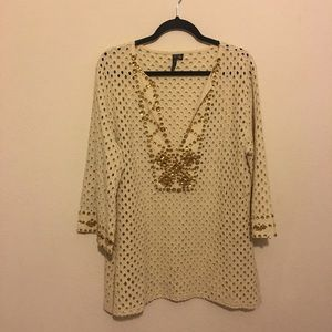 Tops - A lovely top by Azi Jeans size XL w/ rhinestones